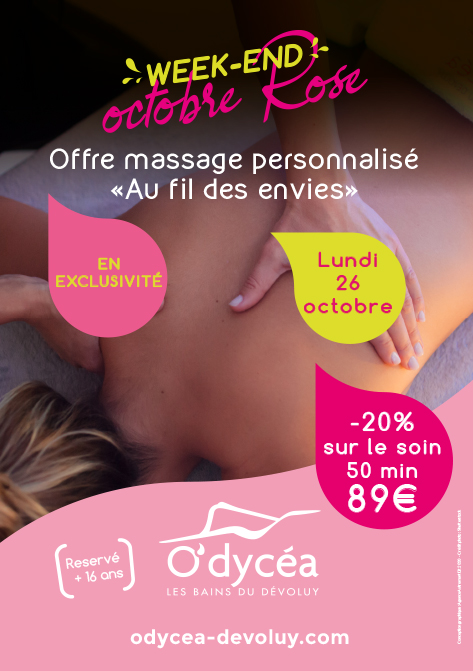 Soin week-end octobre rose